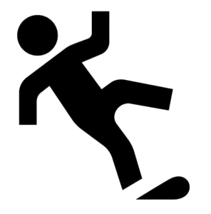 Image of person slipping